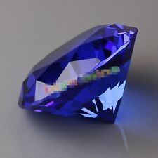 New 30mm Blue Crystal Diamond Shape Paperweight Gem Display Gift Ornament AT