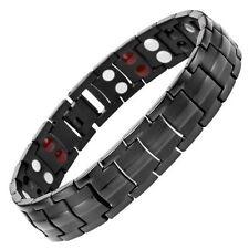Willis Judd Mens Black Four Element Titanium Magnetic Bracelet & Link Removal Tool