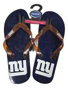 New York Giants Womens Glitter Thong  Flip Flop Sandals