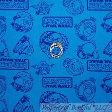 BonEful FABRIC FQ Cotton Quilt Blue Angry Bird Star Wars Word Decor S Super Hero