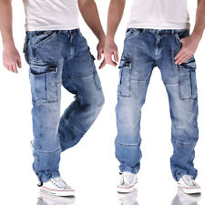 Big Seven Brian Medium Blue Cargo Herren Jeans Hose