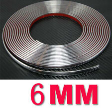 6MM x 15M Most Car Auto Chrome Moulding Trim Strip Self Adhesive Protctor Strips