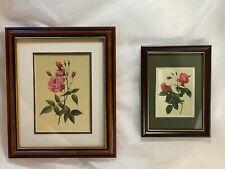 2 Vintage Italian Florentine Wild Roses Printed on Silk
