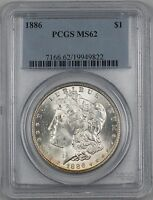 1886 Morgan Silver Dollar $1 Coin PCGS MS-62 RL (H)