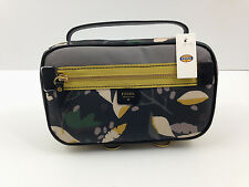 NWT FOSSIL Keyper IVY Jewelry Case Travel Bag Organizer Black Floral  Free Ship