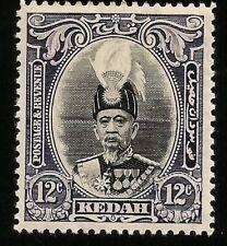 1937 Kedah Sultan 12c Mint Stamp Scott 47 SG 61