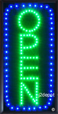 US Seller vertical all letters Animated Led OPEN Sign on/off Switch/Chain 19x10