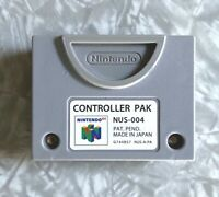 N64 Controller Pak NUS-004 OEM Official Nintendo 64 Memory Card Cleaned & Tested