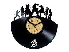 Vinyl record wall clock, Avengers design bedroom playroom office home art shop