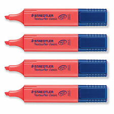 4pcs X STAEDTLER Textsurfer® classic highlighter - Red 364-2