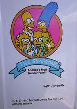 SIMPSONS pencil case Lisa & Bart 1990 Matt Groening cartoon Nuclear Family FOX