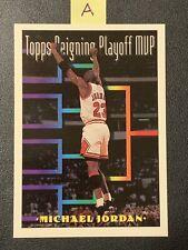 1993-94 Topps Michael Jordan #199 Reigning Playoff MVP Chicago Bulls 📈🔥👀