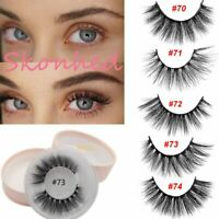 Looking Wispy 3D Mink Hair Eye Lashes Extension Thick Long False Eyelashes