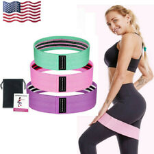 US Hip Resistance Bands Loop CrossFit Exercise Fitness Yoga Gym Booty Leg Bands