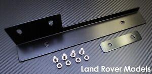 Black Front Bumper License Plate Relocator Bracket Holder JDM Bar for Land Rover