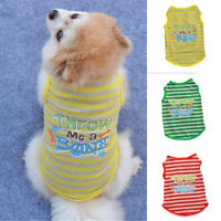 Pet Small Dog Cat Clothes Spring Summer Beautiful Striped Sleeveless T-SHIRT