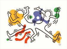 Keith Haring Dancing Figures 1992 Litho Print 9-1/2 x 11-3/4
