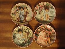 Set Of 4 Bradford Exchange Me And My Shadow By Jennifer Welty Collectors Plates