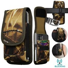 Cell Phone Holster Belt Clip Pouch Wallet Case Cover Card Holder for Samsung Lg