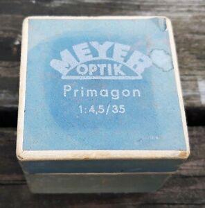 Meyer Optik Görlitz Primagon 35mm f4.5 Lens - Exakta Mount