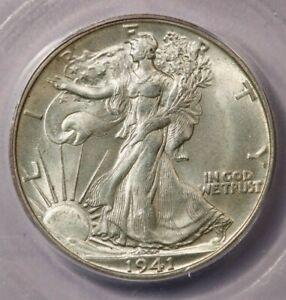 1941-S 1941 Walking Liberty Half Dollar ICG MS64+ Very interesting rev Die Break