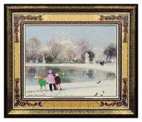 Jules R Herve Original Painting Oil On Canvas Paris Cityscape Portrait Signed