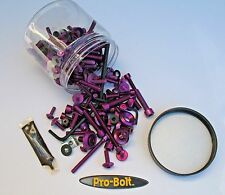 Pro-Bolt Work Shop 120+ Piece Tub Metric Bolts Washers Purple Anodized Aluminum
