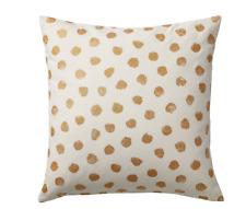 SET of 2 Ikea SKÄGGÖRT SKAGGORT Pillow Cushion Cover White/Gold 50 x 50cm NEW
