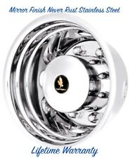 "19.5"" X 6.75"" 8 LUG 4 HOLE REAR DRIVE WHEEL SIMULATOR RIM LINER HUBCAP COVER ©"