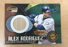 2000 Pacific Invincible Alex Rodrigues SP Game Used Bat 110/200 #17 Seattle