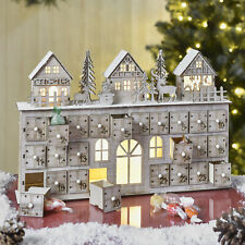 Christmas Scene Advent Calendar With LED Christmas Gift decorations