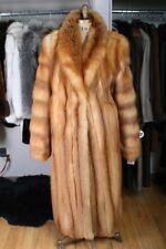 Size 14-16 Stunning Red Fox Fur Women Full Length Coat NEW [JY23]