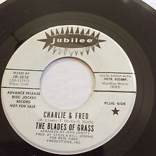 Rock Promo 45 Charlie & Fred -The Blades Of Grass Jubilee JB-5616 White Label NM