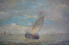 Dipinti A Olio Immagine Barca Vela Marine Mare Marinaio Lago Modello Nave