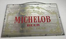 "Michelob Beer Since 1896 Mirror Bar Sign Anheuser-Busch Vintage 1970's 24""X16"""