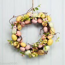 Gisela Graham Easter Egg Floral Blossom Twig Wreath Table Decoration 37.5cm Door