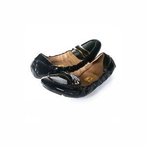 $548 FERRAGAMO Shoes 8.5 Black Patent Leather Drivers Scrunch *EXCELLENT*  8.5