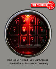 SecuRam TopLit Keypad & Lock Kit- Red Light - Stealth & Accurate Low Light Entry