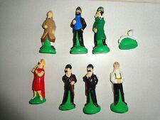 Tintin,7 figurines plâtre HADDOCK,1980,11cm,bon état, collection