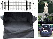 Car Boot Liner Mat & Bumper Protector + Mesh Dog Guard fits Ford