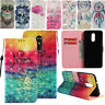3D Patterned PU Leather Stand Folio Book Stylish Wallet Case Cover For LG K10 K8