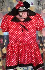 Disney Minnie Mouse Dressing Up Costume With Headband - Age 10-12 VGC