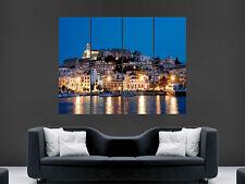 Ciudad Ibiza imagen de arte en pared imagen Poster Gigante enorme impresión