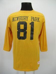 P3895 VTG Men's Champion Newbury Park #81 Football Jersey Size XL