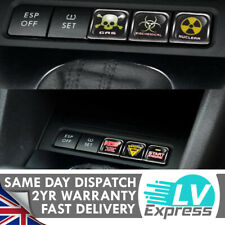 6x Switch Dashboard Button Cover Fun Stickers Badge for VW Golf 5 6 Sticker Bomb