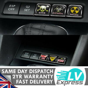 6x Switch Dashboard Button Cover Fun Stickers Badge Fits Golf 5 6 Sticker Bomb