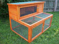 RABBIT HUTCH COMPLEX - LARGE NEW- VERSATILE- MUST SEE GUINEA PIG FERRET