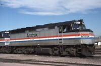 AMTRAK Railroad Locomotive 255 DENVER CO Original 1990 Photo Slide