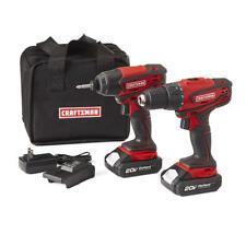 Craftsman 20V MAX Cordless Drill and Impact Driver Combo Kit - NEW Free Shipping