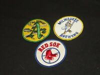 """OLD BASEBALL PATCH PATCHES SWINGIN OAKLAND A""""s BOSTON RED SOX MILWAUKEE BREWERS"""